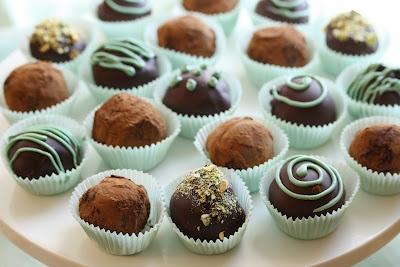 Saving room for dessert: Bailey's Irish Cream Chocolate Truffles
