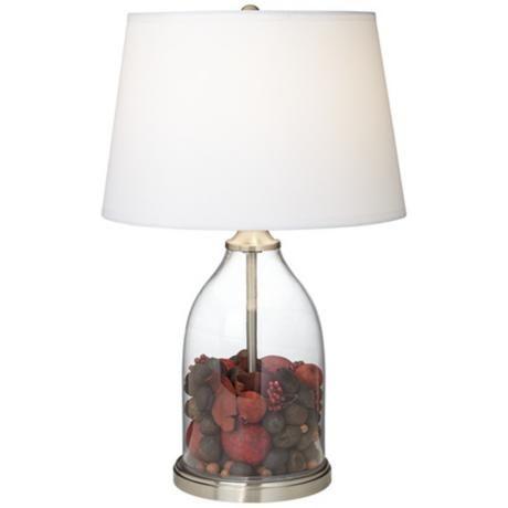 closhe fillable glass table lamp. Black Bedroom Furniture Sets. Home Design Ideas