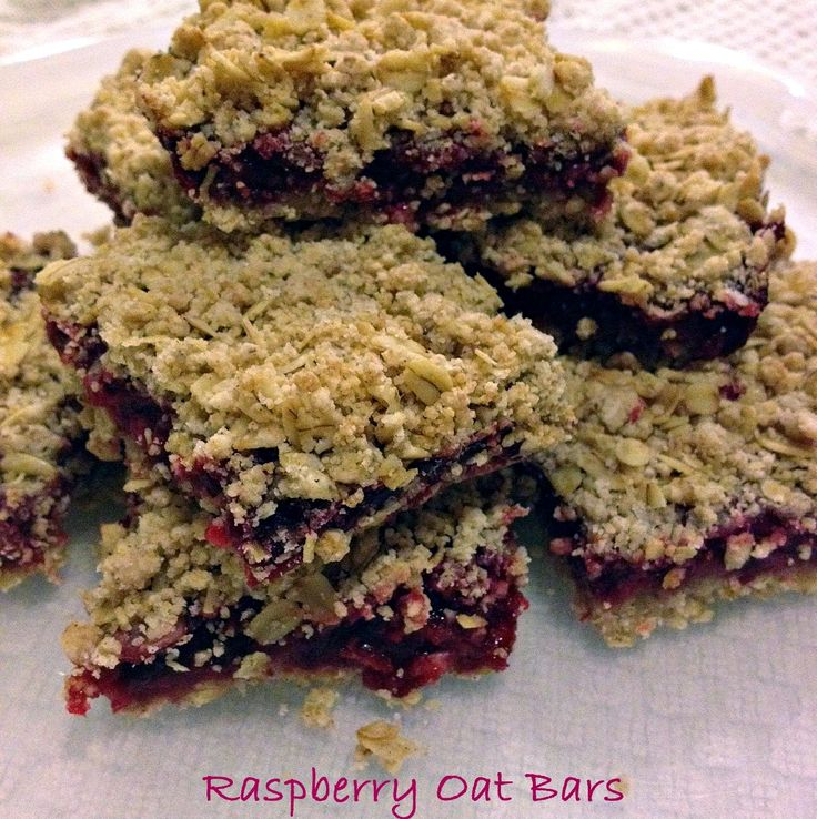 Raspberry Oat Bars - This Gal Cooks
