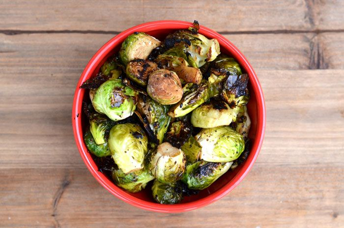 Grilled Brussels Sprouts - Slightly charred and caramelized edges make ...
