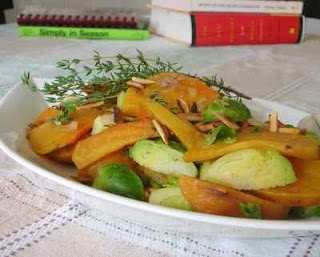 Golden Beets with Brussels Sprouts | Vegetarian | Pinterest