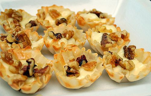 Honey, Walnut, and Brie Tartlettes. These were absolutely fabulous--I ...