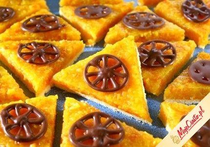 Mazurek pomarańczowy. Kliknij, aby poznać przepis. Przepisy wielkanocne, wielkanoc, ciasta na wielkanoc, babki wielkanoc, mazurek wielkanocny.