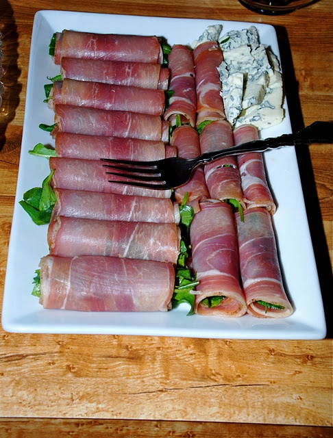 Prosciutto wrapped greens! | Food & Recipes | Pinterest