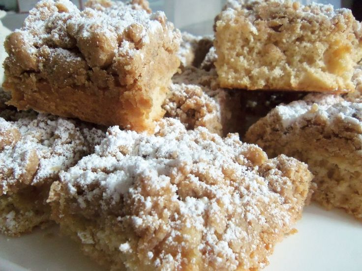 New York Crumb Cake - these are soft, buttery, and melt in your mouth!
