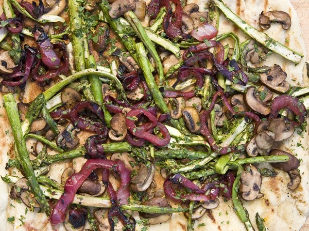 Asparagus and Mushroom Pizza @iVillage | Tarts, Pies & Flatbreads ...