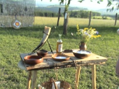 ALTAR FOR A HANDFASTING CEREMONY ( VIKING WEDDING)
