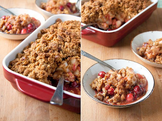 Pear Cranberry Crisp with Gingersnap Crumble by Isabelle @ Crumb, via ...