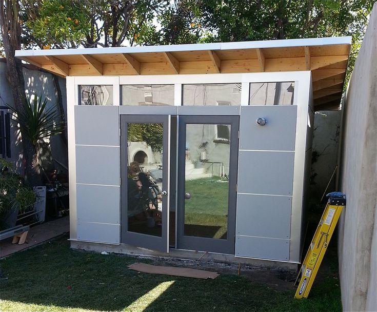 Backyard Gym Shed : studioshedcom Studio Shed Home gym in the backyard  modern shed