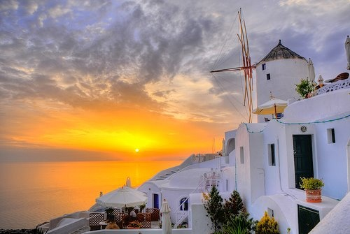 SANTORINI ... sunset-summer, santorini island .. GREECE