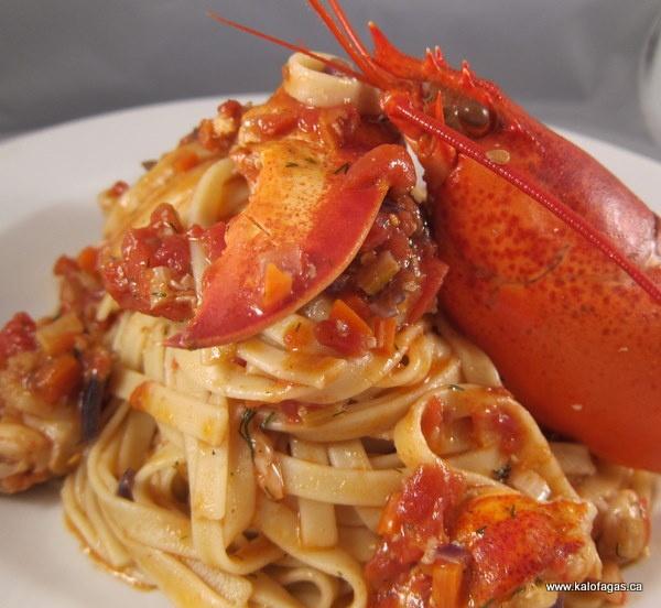 Lobster Pasta (Αστακομακαρονάδα) | lobster | Pinterest