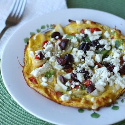 Greek Pepper and Onion Frittata with Feta Cheese | Recipe
