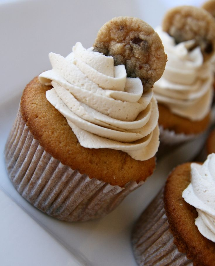 Chocolate Chip Cookie Dough Cupcakes.. yum.