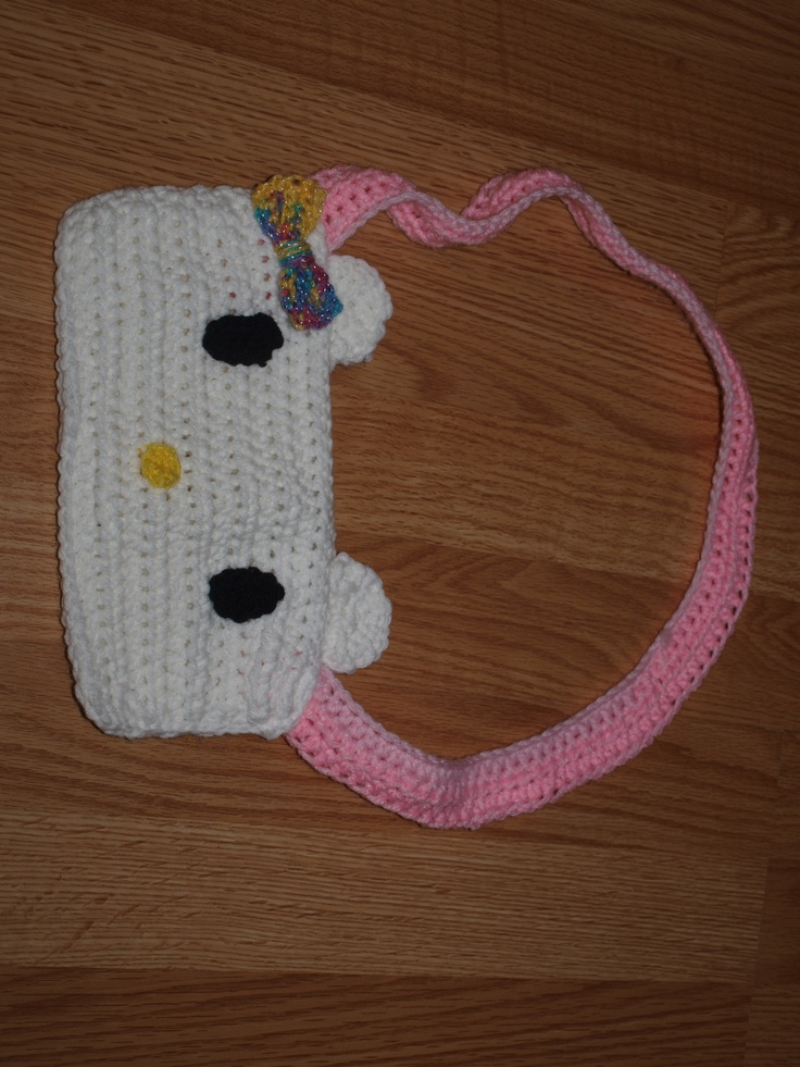 Crochet Purse Patterns Hello Kitty : Pin by Sonja on CROCHET HELLO KITTY Pinterest
