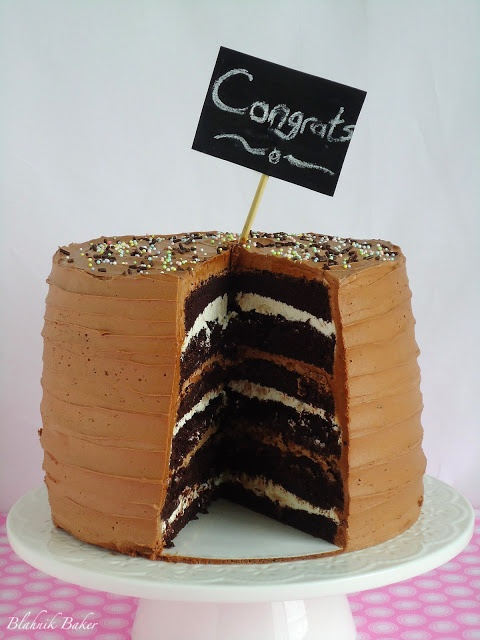 Chocolate Cake With Malted Chocolate Ganache And Toasted ...