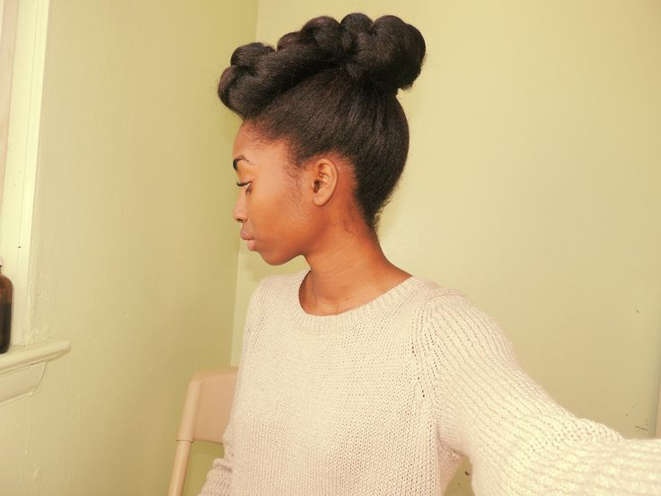 natural hairstyles buns : Formal Hairstyle Natural/Kinky hair Afro hairstyles Pinterest