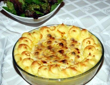 Receitas -Bacalhau no Buraco com Marisco e Béchamel- Roteiro Gastronómico de Portugal