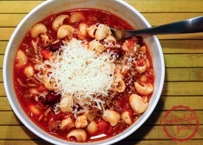 Pasta e fagioli (italian bean and pasta) soup   Recipe