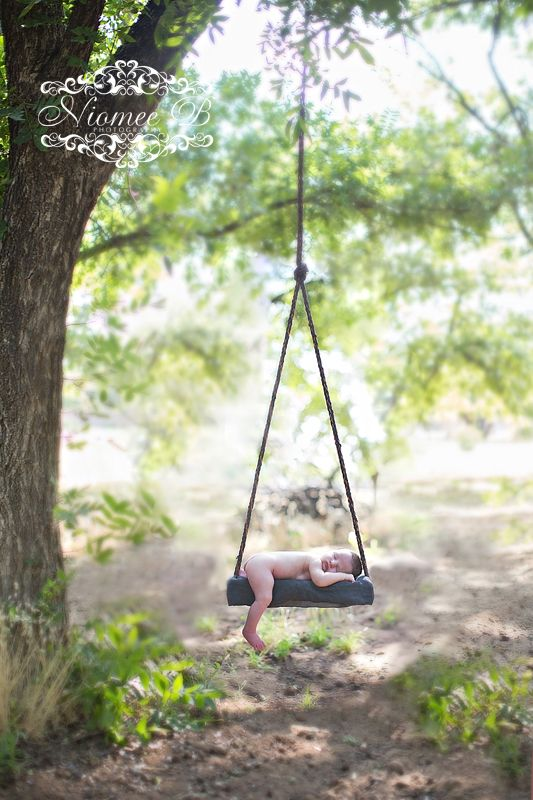 how to draw a swing hanging from a tree