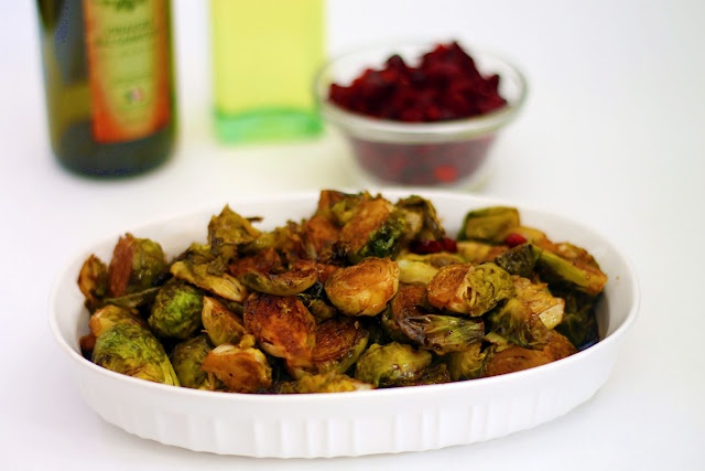 Brussel Sprouts with Balsamic and Cranberries