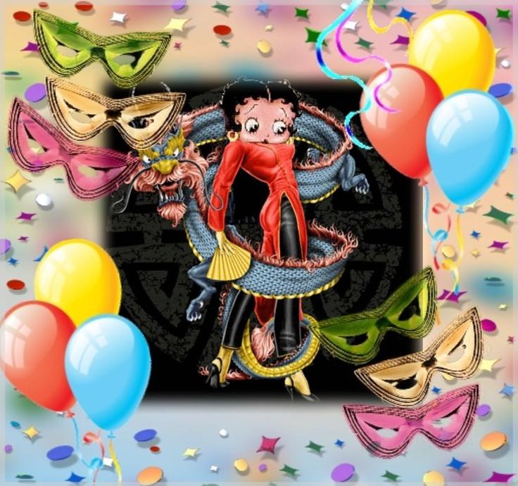 Betty Boop Mardi Gras