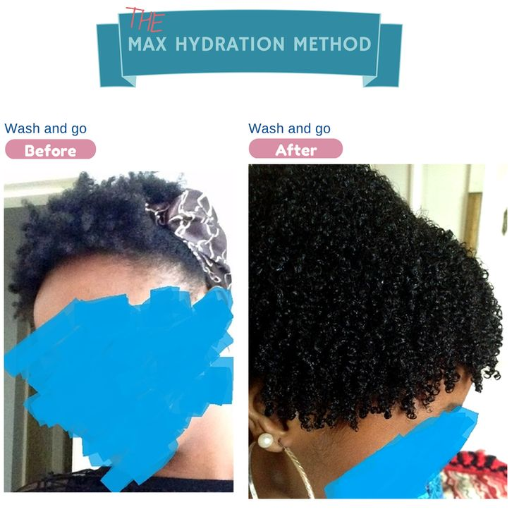 Max Hydration Method Before and after wash and go testimony pics.
