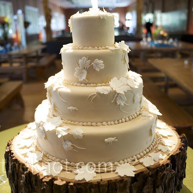 White Leaf Cake
