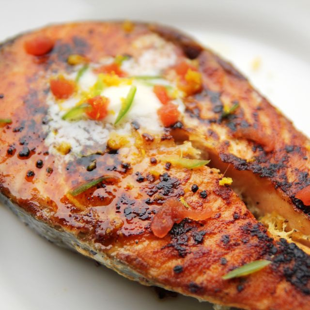 Grilled Salmon With Habanero-Lime Butter Recipe — Dishmaps