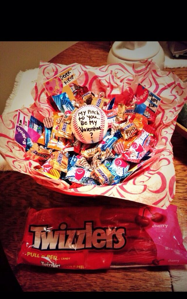 Cute Valentine Ideas For Baseball Boyfriend
