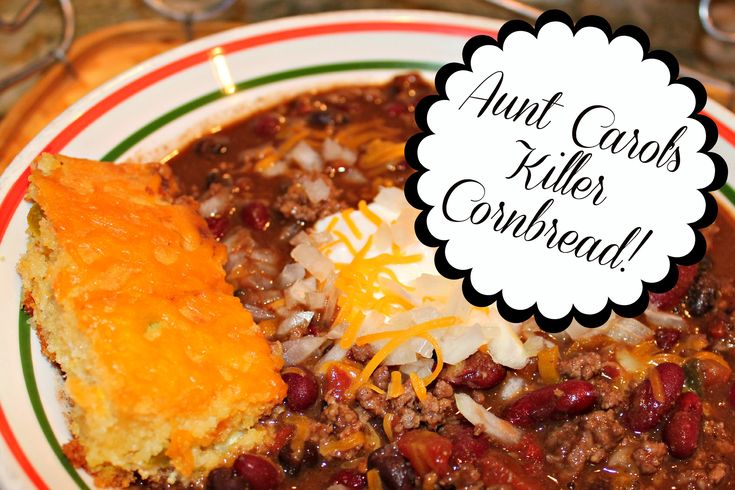 Aunt Carol's Killer Cornbread - peppers, cheddar, sour cream...it's n...