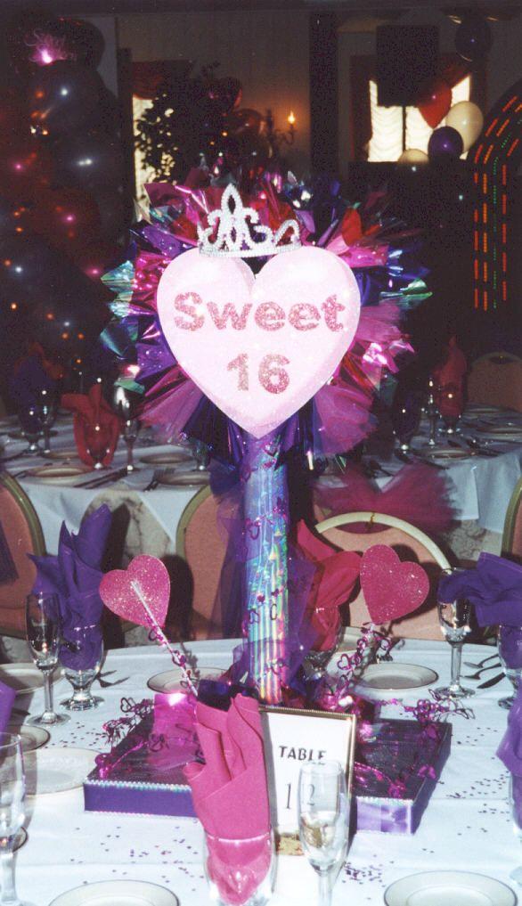 Sweet party centerpiece quinceanera