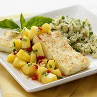 Coconut-Crusted Tofu with Peach-Lemongrass Salsa-Tofu Recipes ...