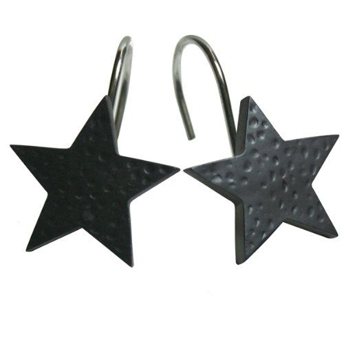 Black Star Shower Curtain Hooks   Neat Gazebo Hook Ideas   Pinterest