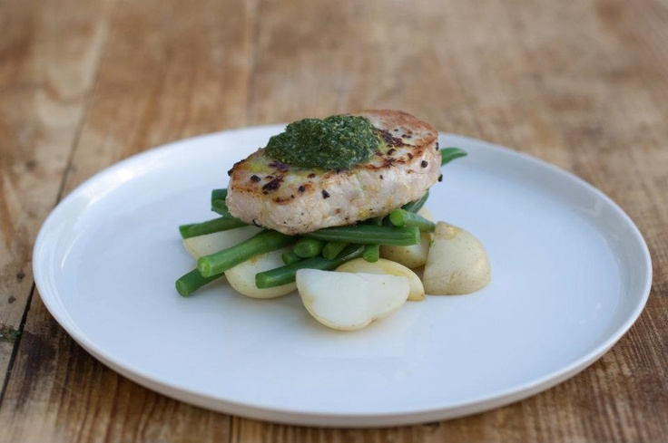 Pork loin steak with salsa verde | Yummy Recipes | Pinterest