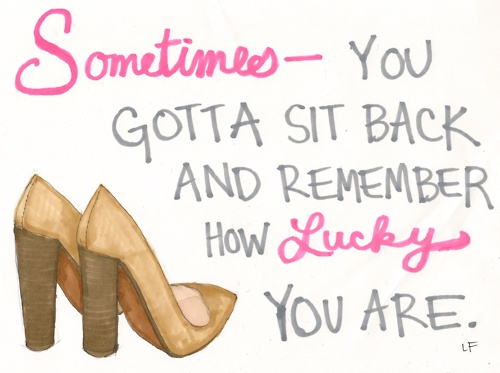 you are lucky.