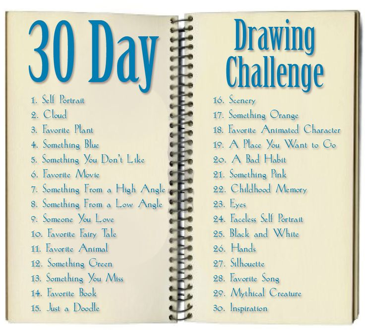 30 day drawing challenge art and drawing techniques for Drawing ideas list