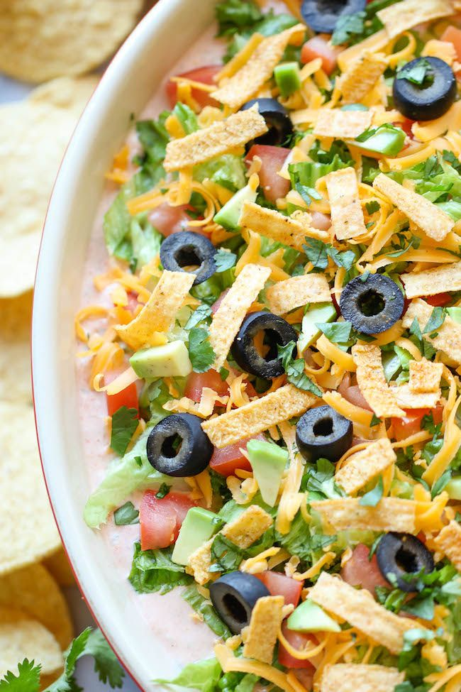 Skinny Taco Dip Recipe ~ Skip the guilt in this lightened up, super ...