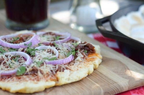 BBQ Brisket Grilled Pizza. MMMM!