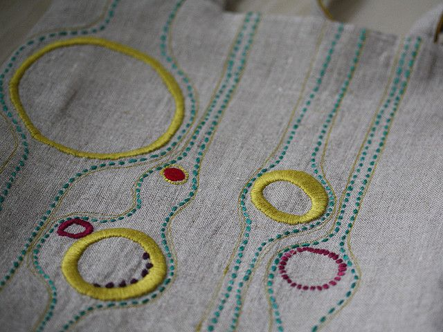 Lovely contemporary embroidery