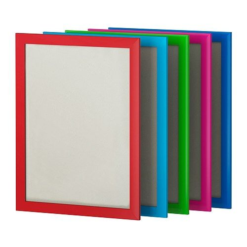 """NYTTJA Frame IKEA. $3.99.   Width: 13½""""  Height: 17¼"""" Picture, width: 11¾"""". Assorted colors / black / white."""