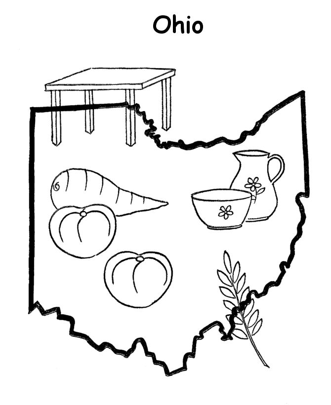 Ohio free coloring pages for Ohio state coloring pages