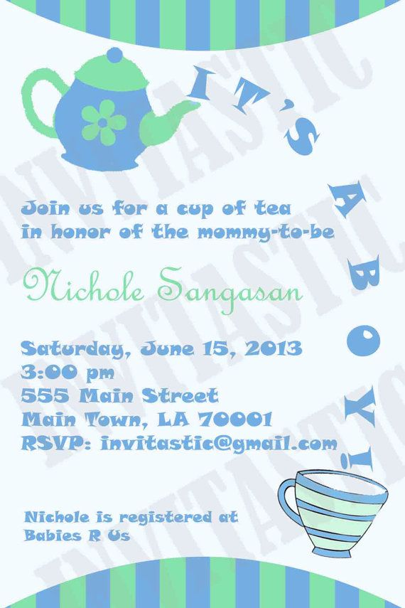tea party baby shower invitation boy or girl by invitasticinvites 10