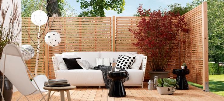 sch ner wohnen sichtblenden linea zaun sichtschutz. Black Bedroom Furniture Sets. Home Design Ideas
