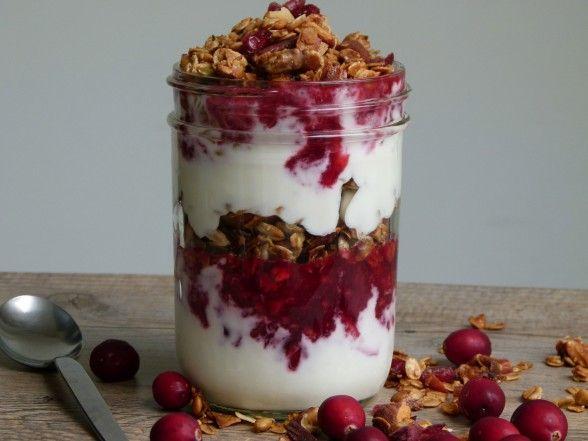 cranberry-granola-yogurt parfait recipe | Pamela Salzman & Recipes