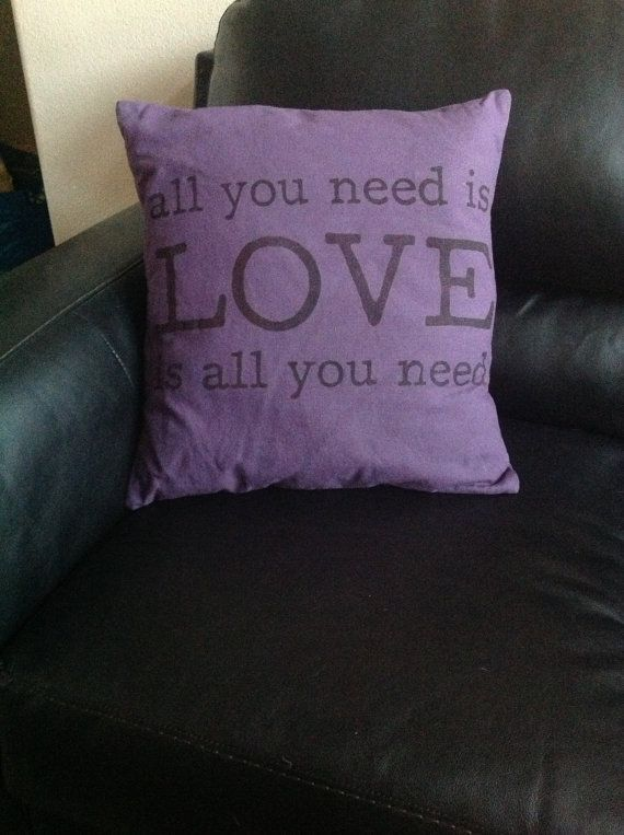 burlap valentine pillows