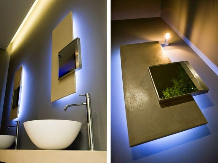 Bathroom mirrors lights