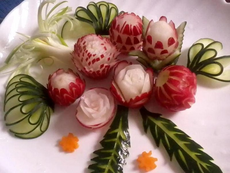Culinary Garnish Vegetables Vegatables And Fruit Carving