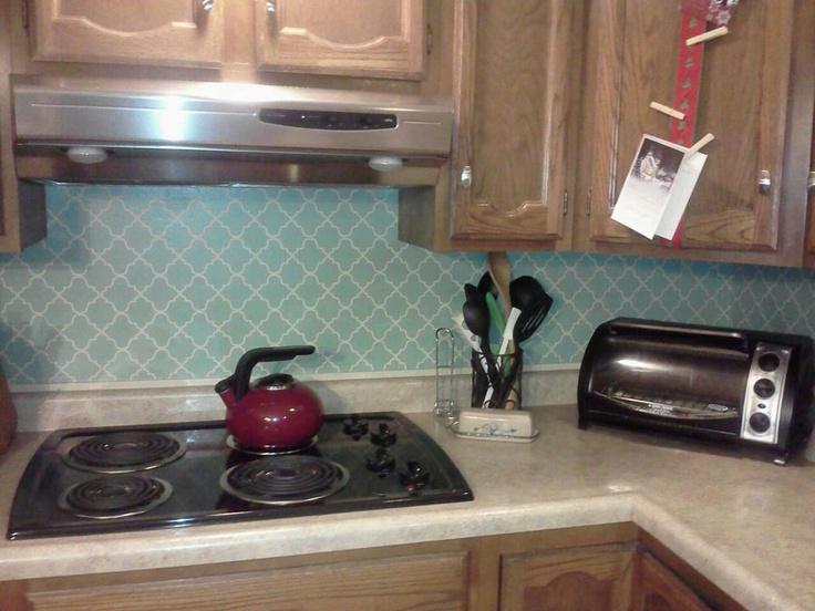Vinyl kitchen backsplash 28 images diy vinyl tiled for Vinyl wallpaper backsplash