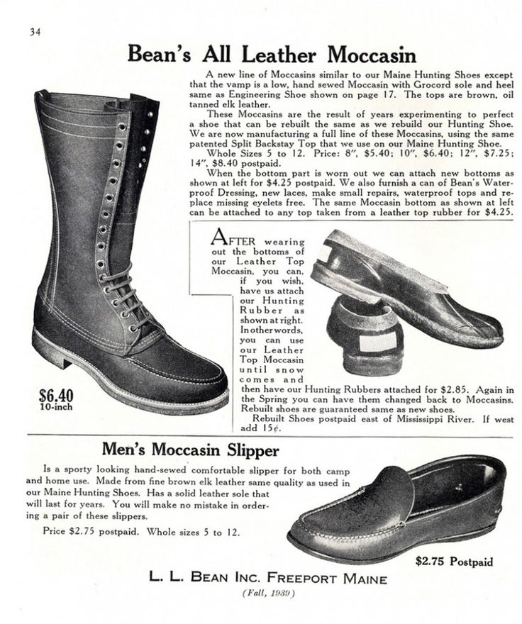 Vintage L.L. Bean catalog page. Wish they're prices were still like that today.