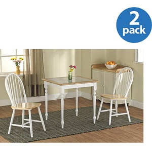 windsor dining chair white natural set of : dining chair white natural set
